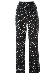 Dolce And Gabbana Polka Dot Print Pyjama Trousers Black