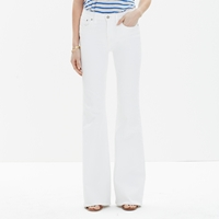 Madewell Flea Market Flares In Pure White