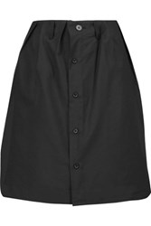 Y 3 Layered Linen Blend Mini Skirt Black