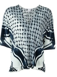 Lala Berlin Fine Knit Printed Jumper Blue