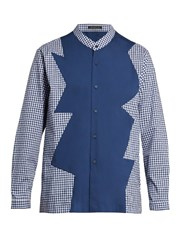 Christopher Kane Long Sleeved Checked Shirt Blue Multi