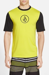 Volcom 'Heather' Short Sleeve Rashguard Lime