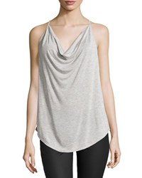 Haute Hippie Cowl Neck Racerback Tank Heather Gray