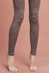 Anthropologie Marlie Ribbed Footless Tights Brown