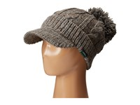 Woolrich Wool Blend Chunky Cable Knit Slouch Radar With Matching Pom Grey Knit Hats Gray