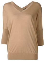 Derek Lam V Neck Jumper Brown