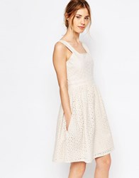 Yumi Uttam Boutique Broderie Anglaise Sun Dress Cream