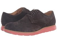 Cole Haan Original Grand Wing Oxford After Dark Suede Bossa Nova Men's Lace Up Casual Shoes Brown