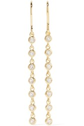 Elizabeth And James Jean Gold Plated Crystal Earrings Metallic