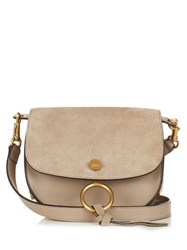 Chloe Kurtis Small Suede And Leather Cross Body Bag Grey