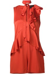 Rachel Zoe Ruffle Playsuit Yellow And Orange