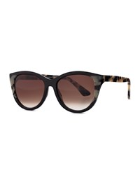 Thierry Lasry Flattery Cat Eye Sunglasses Black Leopard