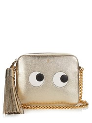 Anya Hindmarch Eyes Leather Cross Body Bag Gold