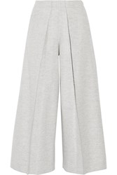 Joseph Nixie Brushed Wool Blend Wide Leg Pants Gray