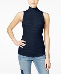 Inc International Concepts Ribbed Mock Neck Sweater Only At Macy's Deep Twilight
