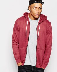 New Look Zip Through Hoodie Brickred