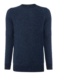 Criminal Textured Crew Neck Pull Over Jumpers Blue