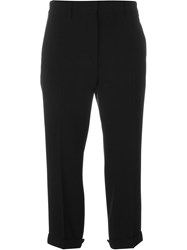 Alberto Biani Cropped Trousers Black