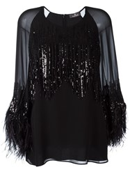 Capucci Sequin Embroidered Blouse Black