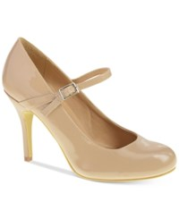 Chinese Laundry Flirty Mary Jane Pumps Women's Shoes Nude Patent