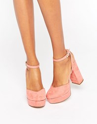 Aldo Shery Ankle Strap Platform Heeled Shoes Pink