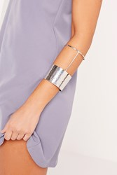 Missguided Silver Statement Cuff Grey