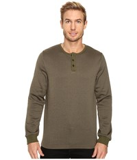 United By Blue Standard Long Sleeve Henley Olive Men's Clothing