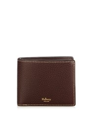Mulberry Bi Fold Leather Wallet Burgundy