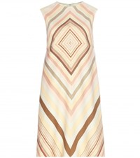 Valentino Wool And Silk Shift Dress Multicoloured