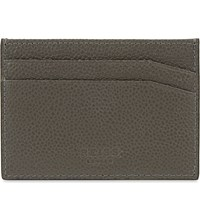 Reiss Adam Leather Card Holder Slate