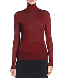 Dkny Sheer Turtleneck Sweater Lacquer
