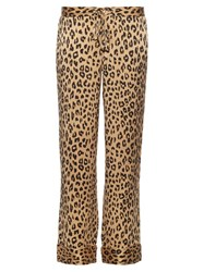 Equipment X Kate Moss Avery Silk Trousers Leopard