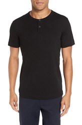 Theory Men's 'Gaskell' Henley T Shirt Black