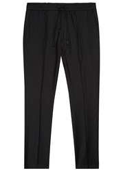 Hugo Black Virgin Wool Jogging Trousers