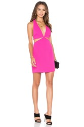 Nbd X Naven Twins Vixen Halter Mini Dress Pink