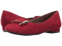 Aerosoles Good Times Dark Red Suede Women's Flat Shoes