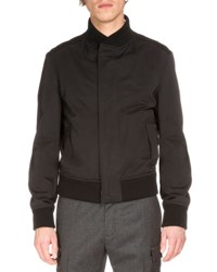 Berluti Zip Up Bomber Jacket W Suede Panels Black