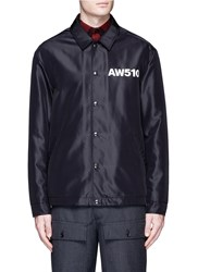 Alexander Wang 'Aw510' Print Coach Jacket Black