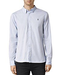 Allsaints Redondo Slim Fit Button Down Shirt Light Blue