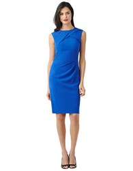 Adrianna Papell Pleated Front Sheath Dress Azure Blue