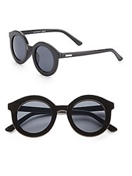 Minkpink 45Mm Round Sunglasses Black