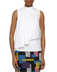 Christopher Kane Sleeveless Layered Flounce Top