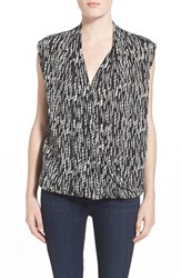Women's Velvet By Graham And Spencer Surplice Sleeveless Blouse