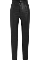 Givenchy High Rise Stretch Leather Skinny Pants