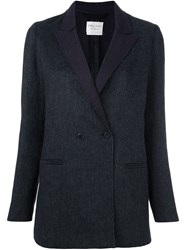 Forte Forte Double Breasted Blazer Grey