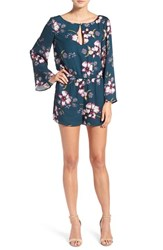 Cupcakes And Cashmere Women's 'Hansens' Floral Print Romper