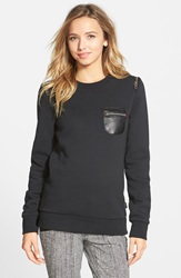 Rvca 'Sneak Out' Fleece Pullover Black