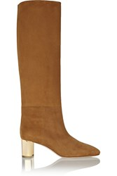 Emilio Pucci Suede Knee Boots Brown