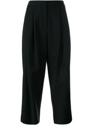 Adam By Adam Lippes Cropped Wide Leg Trousers Black