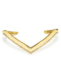 House Of Harlow 1960 Aztec Angles Cuff Gold